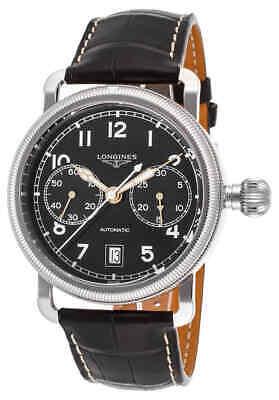 Longines Heritage Chronograph Automatic Black Dial Men's Watch L2.783.4.53.2