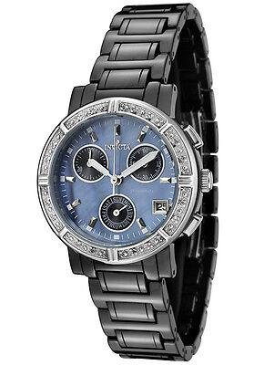 Invicta Women's 0728 Ceramics Diamond MOP Chronograph 33mm Black Watch