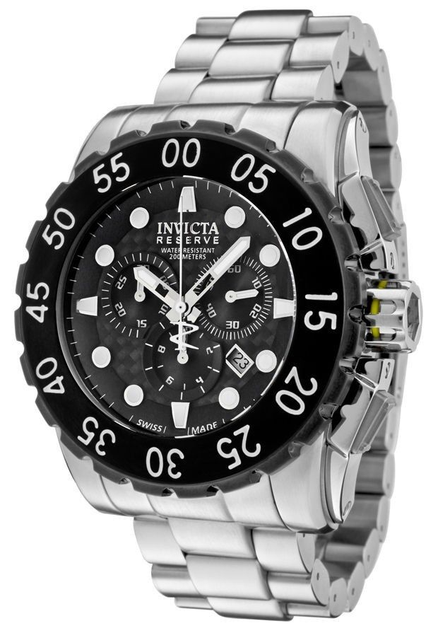 $299.99 - New Invicta 1957 Leviathan Reserve Swiss Made Chronograph Black Dial Steel Watch