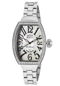 Glam Rock Watch MBD27174 Women's Miami Beach Art Deco White MOP Dial White
