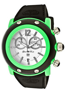 Glam-Rock-Watch-GD1113-Womens-Miami-Beach-Chrono-White-Dial-Green-Black-Resin