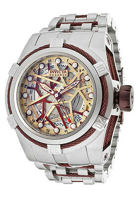 Invicta Reserve Bolt Zeus 12945 Men's Swiss Made Automatic GMT Watch $4995 NEW