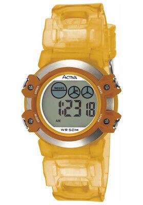 Activa by Invicta AD009-007 Multi-function Orange Rubber Strap Women's Watch