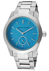 Kenneth Jay Lane Watch 2301B Women's Turquoise Textured Dial Stainless Steel