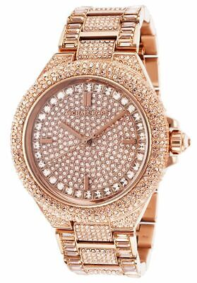 Michael Kors Women's Camille Rose Dial Gold-tone Chronograph Watch MK5862