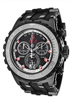 New Men's Invicta 16663 Jason Taylor Reserve Swiss Chrono Black Dial Poly Watch