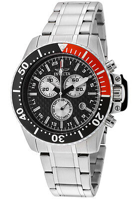 New Mens Invicta 11283 Pro Diver Chronograph Steel Bracelet Watch