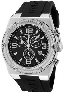 SWISS-LEGEND-Watch-30025-01-Mens-Throttle-Chronograph-Black-Dial-Black-Silicone