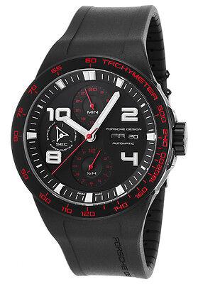 Porsche Design Men's 6340.43.43.1169 Flat Six Automatic Black Dial Watch