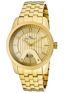 Lucien Piccard Watch 12355-YG-10 Men's Diablons Gold Tone Dial Gold Tone IP