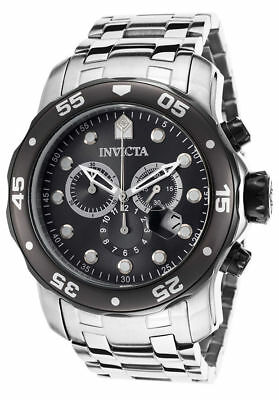 Invicta Mens 17083 Pro Diver Chronograph 48Mm Charcoal Dial Steel Watch