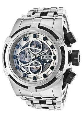 New Mens Invicta 14306 Bolt Zeus Swiss Automatic Chronograph Bracelet Watch