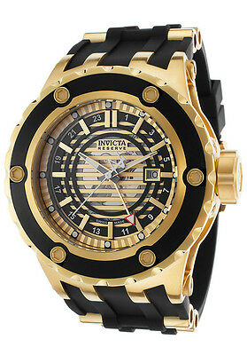 Swiss Made Invicta 16815 Reserve Subaqua Speciality GMT Watch + 3-Slot Dive Case