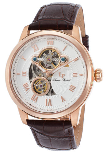 Lucien Piccard Optima Open Heart Automatic Mens Watch LP-12524-RG-02-BRW