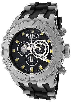 Swiss Invicta 0801 Reserve Subaqua Specialty Chronograph Watch, 3-Slot Dive Case