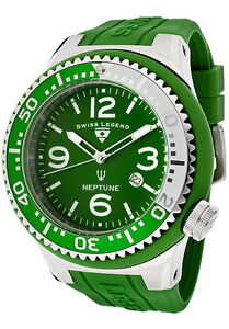 SWISS LEGEND Watch 21818S-B-BC Men's Neptune Light Green Dial Light Green