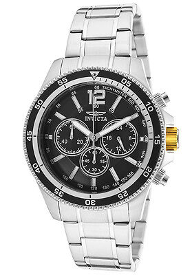 Invicta Men's 13973 Specialty Black Dial Stainless Steel Bracelet Chrono Watch
