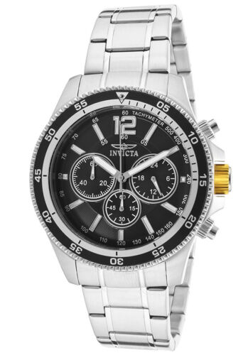$54.99 - Invicta Men's 13973 Specialty Black Dial Stainless Steel Bracelet Chrono Watch