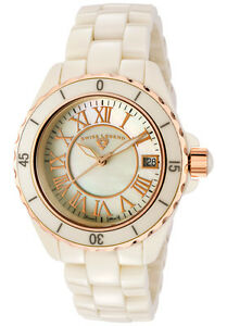SWISS LEGEND Watch 20050-BGWRR Women's Karamica Beige Ceramic