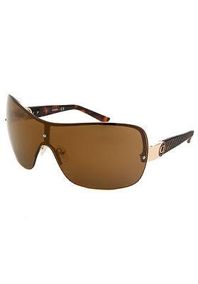 NEW GUESS GF 0274 32F Brown Gold Women's Shield Brown Lens Sunglasses Authentic