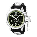 Invicta Men's 4342 Russian Diver 51.5mm Black Dial Black Rubber Watch