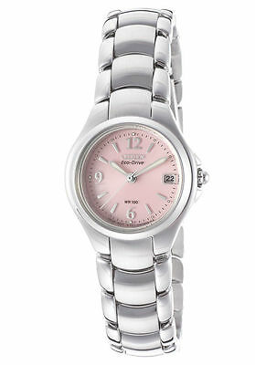 NEW Citizen EW1170-51X Womens Eco-Drive Stainless Steel Komen Pink Dial Watch