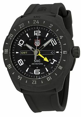 Luminox SXC PC Carbon GMT Black Dial Black Rubber Men's Watch 5021