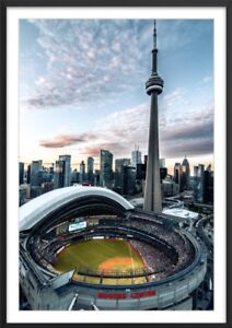 CN tower & Rogers centre FRAMED PHOTO