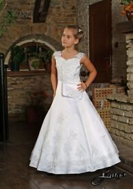 First Holy Communion / white party dress
