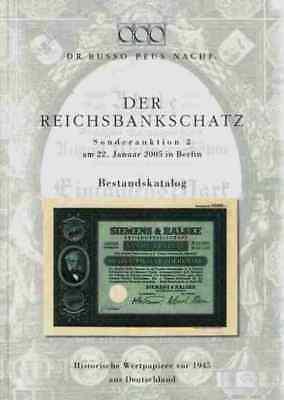 Reichsbankschatz 2005 Katalog  2530 Aktien Firmengeschichten + Farbbilder Band 2