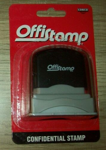 "Offistamp Pre-Inked Stamper, ""Confidential"", Red, Ink Self-Inking"
