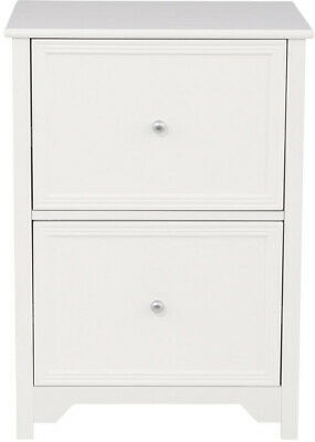 Oxford White 28.5 In. File 2-drawer Cabinet For Home And Office