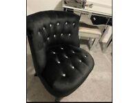 Black diamanté chair