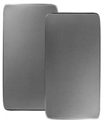 Reston Lloyd Corelle Coordinates Rectangular Burner Cover, Stainless Steel, Set