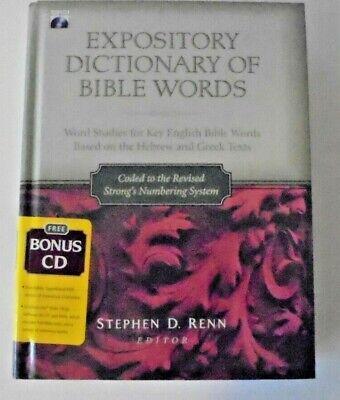 Expository Dictionary of Bible Words PLUS Bonus CD Stephen D Renn HB 2007