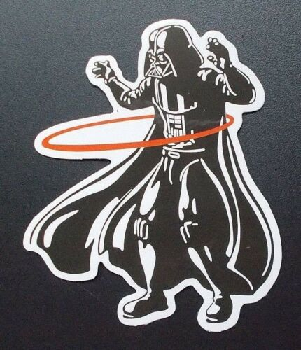 "Sticker Decal Gloss-Optics "" Hula Hoop Vader Laptop, Smartphone"