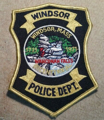 MA Windsor Massachusetts Police Patch