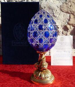 Faberge-Imperial-Sculpture-Oeuf-Egg-Cristal-Crystal-Plaque-Or-Gold-1-5kg-26cm