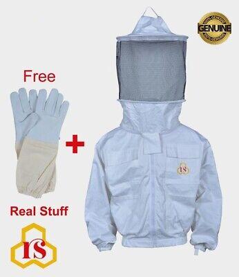 Beekeeper Beekeeping 100 Cotton Jacket Round Veil Best Quality Size Xxl