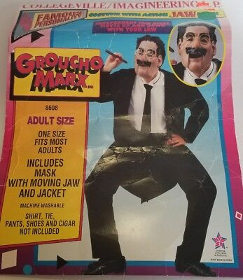 Collegeville Groucho Marx Action Jaw Costume w/Mask & Coat Adult Capt. Spaulding (Action Costumes)