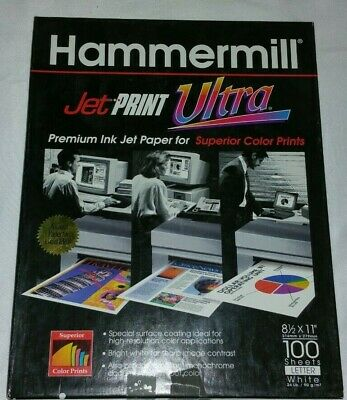 Hammermill Jet Print Ultra 100 Sheets Of Premium Ink Jet Paper