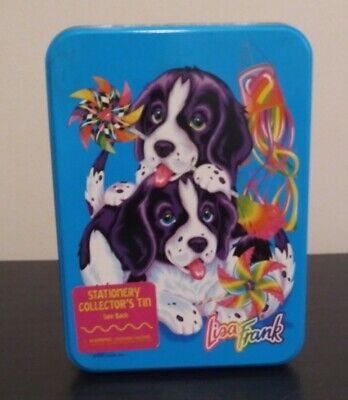 Vintage Lisa Frank Rare Velvet and Violet Stationary Collector Tin with Extras!!