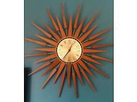 Retro Sunburst Seth Thomas clock