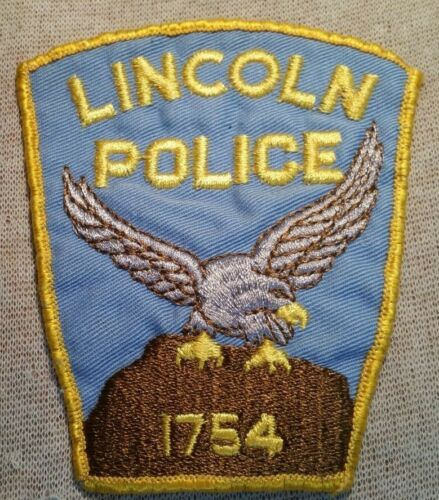 MA Lincoln Massachusetts Police Patch