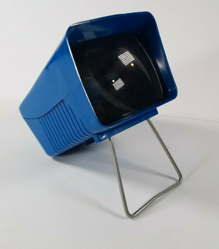 "Vintage Airequipt 12x Lighted 2"" x 2"" Slide Viewer Single Desktop Magnifier"