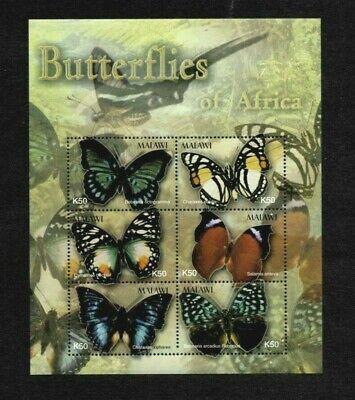 MODERN GEMS - Malawi - 2003 - Butterflies of Africa - Souvenir Sheet - MNH