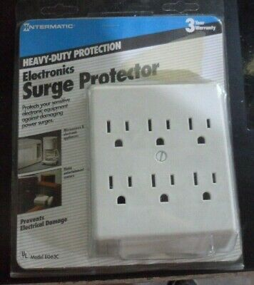 Intermatic 6-outlet Surge Protector Eg63c