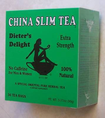 2 Box of 36 TEA BAGS = 72, CHINA SLIM TEA Dieter's Delight * Made in USA *