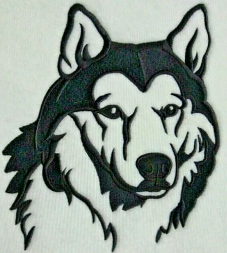 SIBERIAN HUSKY SILHOUETTE Personalized Embroidered Fleece Stadium Blanket Gift