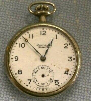 Ingersoll Reliance 14s 7j Pocket Watch - Watchmaker Repair Parts